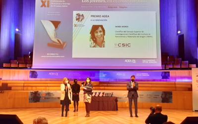María Moros, investigadora del CSIC en el INMA (CSIC-UZ), recibe el Premio ADEA a la Innovación