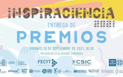 Convocatoria de entrega de premios de la XI edición de Inspiraciencia en Zaragoza