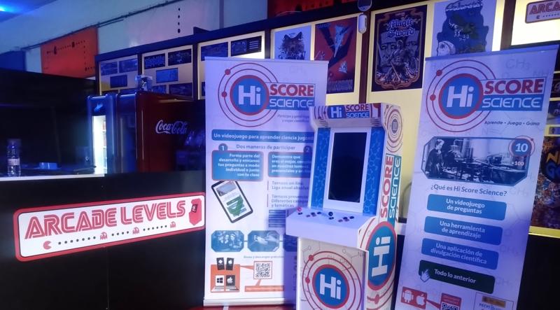 ¿Planes para este domingo? Vente al salón de máquinas recreativas Arcade Levels y descubre la nueva máquina Hi Score Science